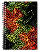 Janca Abstract Panel #5473w3 Spiral Notebook
