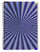 Janca Blue Oval Abstract 9646w11 Spiral Notebook
