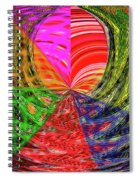 Janca Colors Panel Abstract # 5212 Wtw7 Spiral Notebook