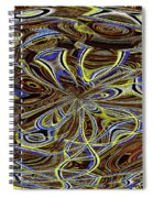 Janca Oval Abstract 4917 W3a Spiral Notebook
