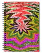 Janca Pink Color Panel Abstract #5212 Wtw6 Spiral Notebook