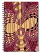 Janca Red And Yellow Abstract  Spiral Notebook