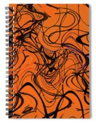Janca Red Power Tower Abstract Spiral Notebook