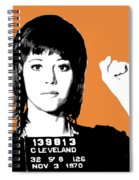 Jane Fonda Mug Shot - Orange Spiral Notebook