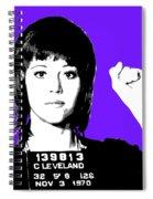 Jane Fonda Mug Shot - Purple Spiral Notebook