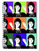 Jane Fonda Mug Shot X9 Spiral Notebook