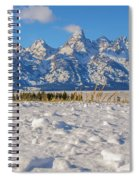 January At The Tetons Spiral Notebook