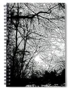 January Beauty 2 Black And White  Spiral Notebook
