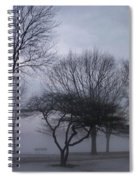 January Fog 6 Spiral Notebook