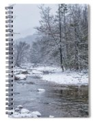 January Snow On The River Spiral Notebook
