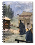Japan: Cremation, 1890 Spiral Notebook