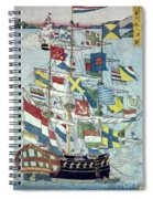 Japan: Dutch Ship Spiral Notebook