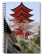Japan Itsukushima Temple Spiral Notebook