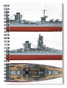 Japanese Battleship Ise Spiral Notebook