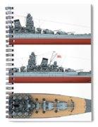 Japanese Battleship Yamato Spiral Notebook