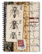 Japanese Bees Spiral Notebook