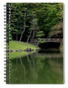 Japanese Garden Bridge Reflection Spiral Notebook