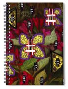 Japanese Butterflies In Modern Style Spiral Notebook