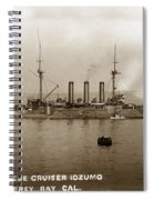 Japanese Cruiser Izumo In Monterey Bay December 1913 Spiral Notebook
