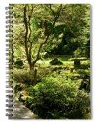 Japanese Garden At Butchart Gardens In Spring Spiral Notebook