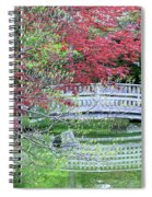 Japanese Garden Bridge In Springtime Spiral Notebook