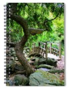 Japanese Garden Spiral Notebook