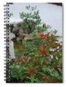 Japanese Garden Lantern Spiral Notebook