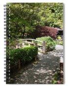 Japanese Garden Path With Azaleas Spiral Notebook