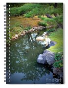 Japanese Garden Reflection Spiral Notebook