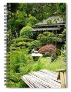 Japanese Garden Teahouse Spiral Notebook