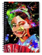 Japanese Geisha Colored Spiral Notebook