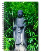 Japanese House Monk Statue Spiral Notebook