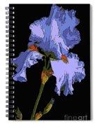 Japanese Iris-blue Beauty Spiral Notebook