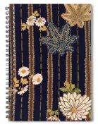 Japanese Maple And Chrysanthemum Modern Interior Art Painting. Spiral Notebook