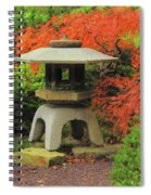 Japanese Maple And Lantern 1 Spiral Notebook