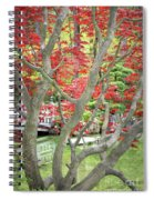 Japanese Maple Tree And Pond Spiral Notebook