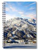 Japanese Winter Resort Spiral Notebook