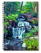Japanese Waterfall Garden Spiral Notebook