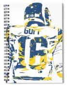 Jared Goff Los Angeles Rams Pixel Art 2 Spiral Notebook