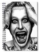 Jared Leto As The Joker Spiral Notebook