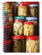 Jars Of Asian Style Pickles In Kep Market Cambodia Spiral Notebook