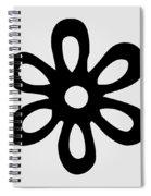 Camellia - Black  Spiral Notebook