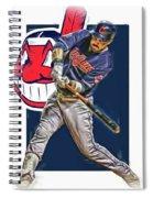Jason Kipnis Cleveland Indians Oil Art Spiral Notebook