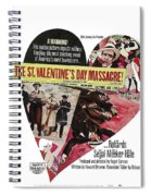 Jason Robards As Al Capone Theatrical Poster The St. Valentines Day Massacre 1967  Spiral Notebook
