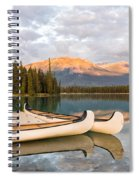 Jasper Lake Canoes Spiral Notebook