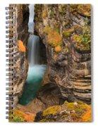 Jasper Maligne Canyon Waterfall Spiral Notebook