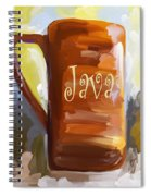 Java Coffee Cup Spiral Notebook