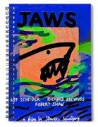 Jaws Poster  Spiral Notebook