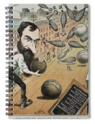 Jay Gould Cartoon, 1882 Spiral Notebook