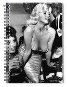 Jayne Mansfield Hollywood Actress And, Italian Actress Sophia Loren 1957 Spiral Notebook